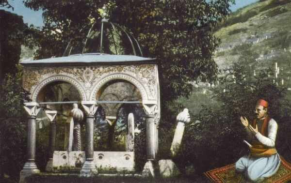 Prayers at the Tomb of the local Saint - Bosnia and Herzegovina Date: 1908