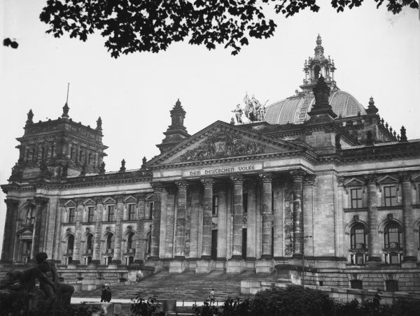 The pre-war Reichstag in Berlin, Germany in the 1930s
