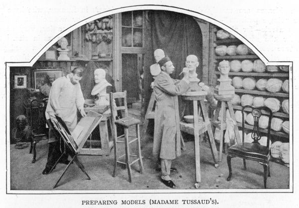 Waxwork artists preparing models at Madame Tussaud's
