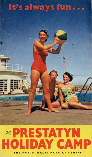Brochure front cover advertising Thomas Cook's holidays at Prestatyn Holiday Camp. Date: circa 1960s