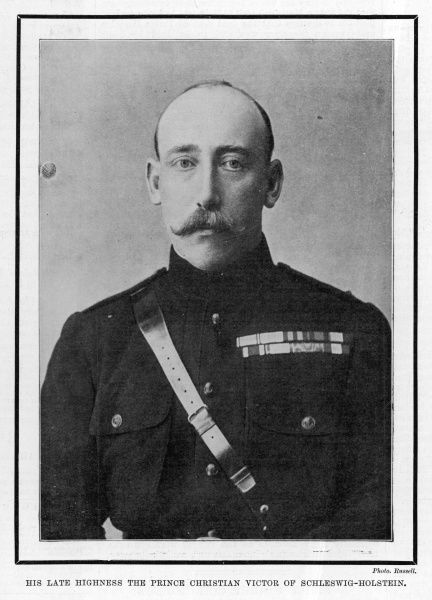 PRINCE CHRISTIAN VICTOR OF SCHLESWIG-HOLSTEIN Eldest son of Princess Helena - third daughter of Queen Victoria - died of Malaria when serving in the Boer War