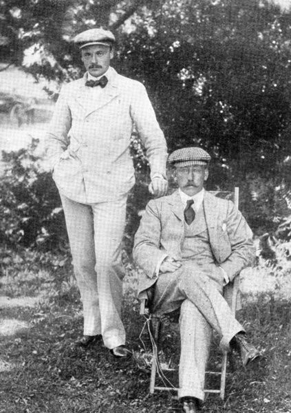 Prince Christian Victor and Capt Stuart-Wortley