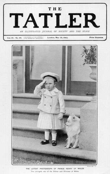 Prince Henry of Wales, later Duke of Gloucester (1900 - 1974), third son of King George V, pictured saluting wearing a sailor suit with skirt