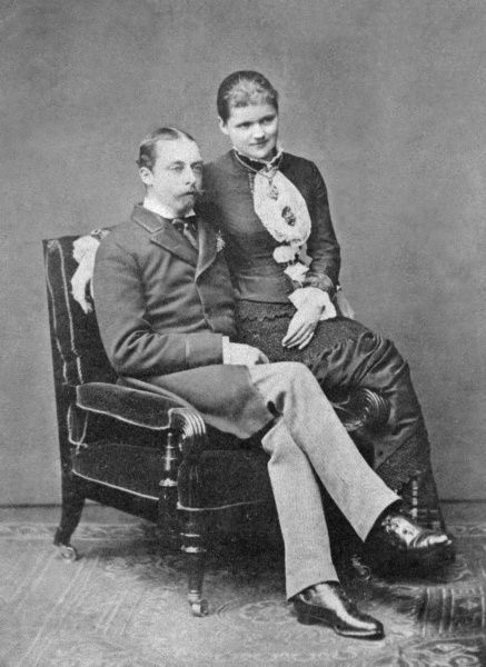 Prince Leopold, Duke of Albany (1855-1884) and his future wife, Princess Helen of Waldeck-Pyrmont in 1881