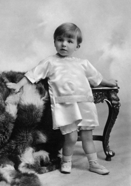 Prince Mircea of Romania (1913-1916), youngest child of King Ferdinand and Queen Marie of Romania, pictured in 1915