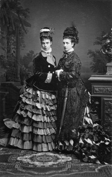 Alexandra, Princess of Wales, later Queen Alexandra (1844-1925) with her youngest sister, Princess Thyra of Denmark, later Duchess of Cumberland