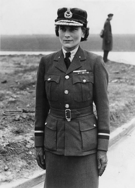 Princess Alice, Duchess of Gloucester (1901 - 2004), pictured in the uniform of the Women's Air Auxiliary Force, of which she was Chief Commandant