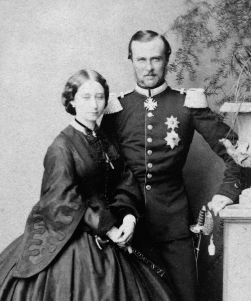 Princess Alice, Grand Duchess of Hess with her husband, Grand Duke Louis (Ludwig IV) of Hesse (1843-1878)
