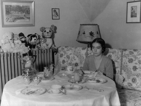 Princess Henriette of Schonaich-Carolath (1918-1972), daughter of Princess Hermine Reuss of Greiz and stepdaughter of Kaiser Wilhelm II. Seen here at home in Doorn Castle (Huis Doorn), Netherlands, where the Kaiser and family went to live after his abdication
