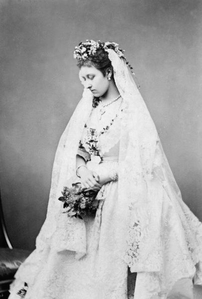Princess Louise, Duchess of Argyl (1848-1939) on her wedding day on 21st March 1871