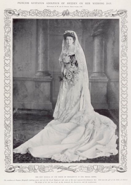 The new member of the House of Bernadotte in her bridal robes
