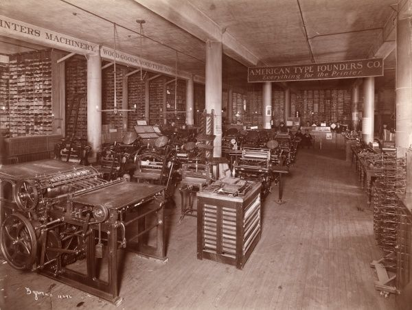American Type Founders Co. Printing machines and presses