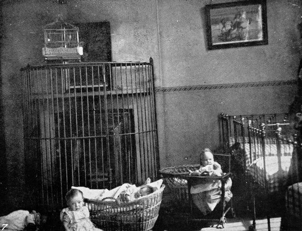 Prison babies at play in the day nursery