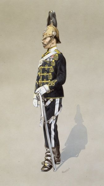 Private / Trooper - 6th Dragoon Guards - Carabiniers. Painting by Malcolm Greensmith