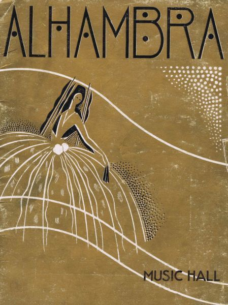 Programme cover for Alhambra Theatre, Paris, 1933 Date: 1933