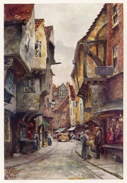 An old street in a provincial city - the Shambles, York