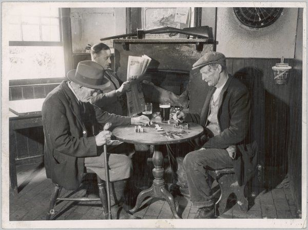 A game of dominoes in an English country pub