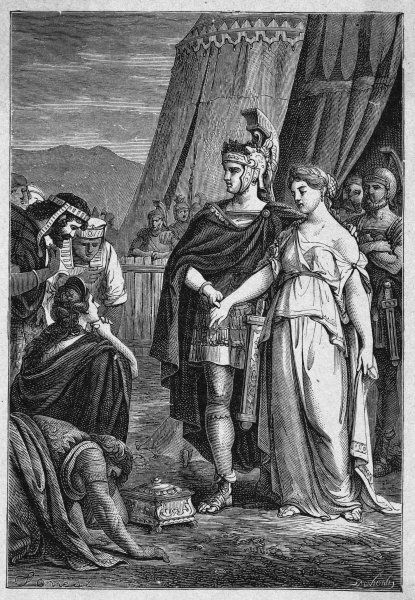 Publius Scipio Africanus generously restores his betrothed to the king of the Celtiberi