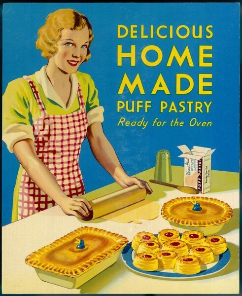 A woman makes various things out of puff pastry