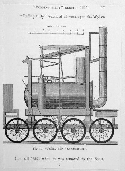 Hedley's improved Wylam engine, known as 'Puffing Billy&#39