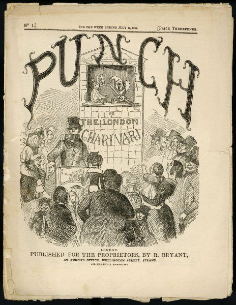 The cover of the first issue of 'Punch or the London Charivari&#39