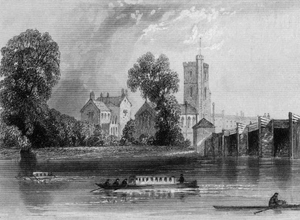 Putney viewed from across the Thames, near Putney Bridge Date: 1846