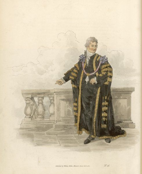 THE LORD MAYOR He is chosen annually by the Liverymen, members of the several companies in the City of London : he is generally a wealthy merchant
