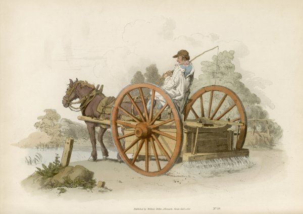 A WATERING CART - 'Whoever has experienced the misery of dust upon a highway crouded with carriages in the heat of summer, must acknowledge the utility of the watering cart.&#39