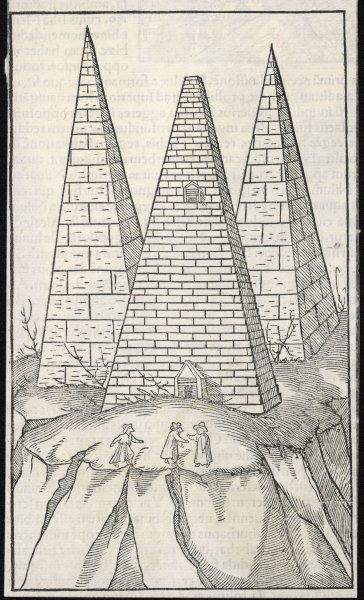 A depiction of the Pyramids by an artist who had the misfortune never to have seen them