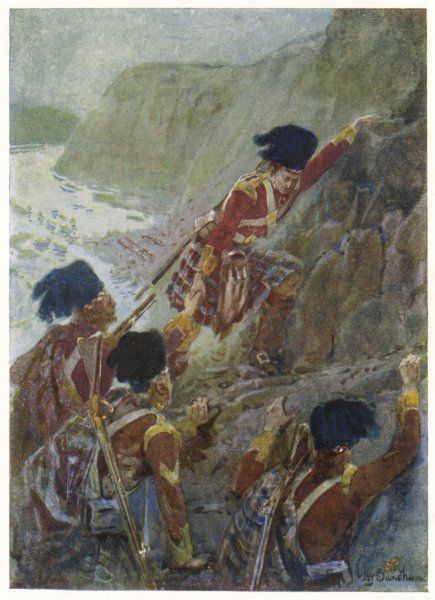 QUEBEC : The British troops scale the Heights of Abraham