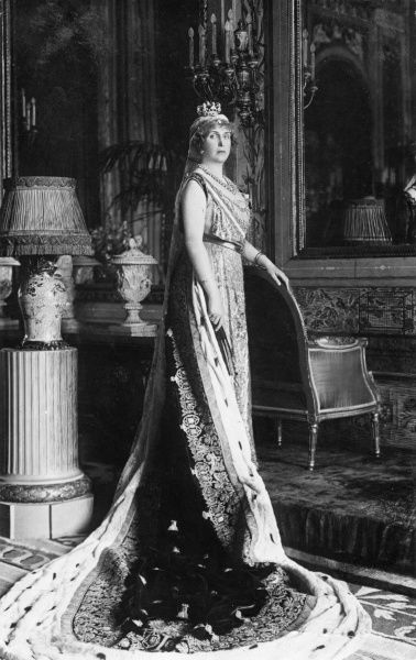Queen Ena of Spain (1887-1969), formerly Princess Ena of Battenburg, daughter of Princess Beatrice and Prince Henry of Battenberg, granddaughter of Queen Victoria and wife of King Alfonso XIII of Spain