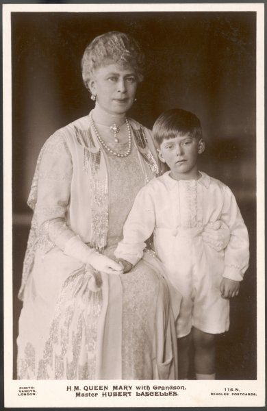 QUEEN MARY Wife of George V, with her daughter Mary's son, Hubert Lascelles
