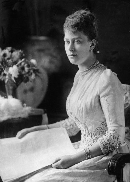 Princess May of Teck, later Queen Mary (1867 - 1953), consort of King George V. Date: c.1890