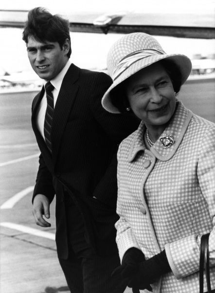 The Queen returns from Scotland There is a breezy arrival at Heathrow airport, London, as the Queen and Prince Andrew end their holiday in Balmoral, Scotland.  Date: 9th October 1980 1980