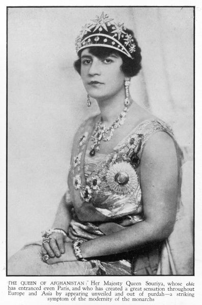 QUEEN SOURIYA OF AFGHANISTAN Wife of King Amanullah of Afghanistan. The couple visited London in March 1928