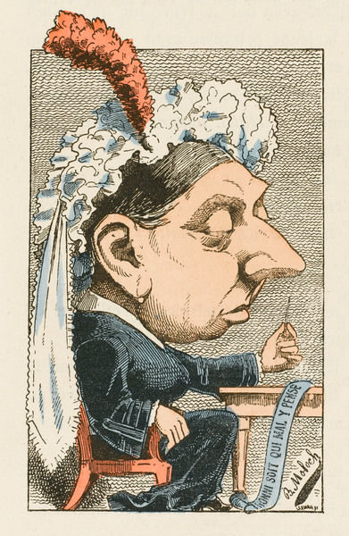 QUEEN VICTORIA Cartoon