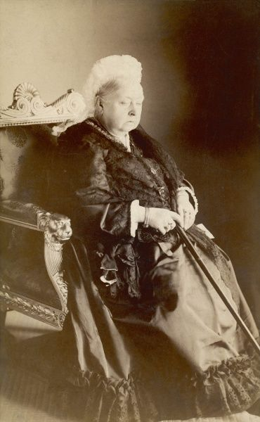 Study of Queen Victoria in 1896 at the age of 77