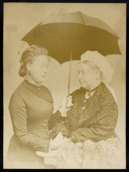 QUEEN VICTORIA A photograph with Princess Beatrice