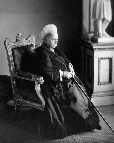 Photographic portrait of Queen Victoria (1819-1901) of Great Britain and Ireland and Empress of India, pictured c.1895