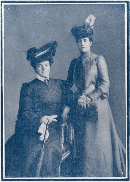 AMELIE, QUEEN OF PORTUGAL Queen Amelie, wife of King Carlos I of Portugal, pictured together with Queen Alexandra. The pair were great friends