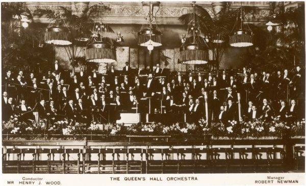 The Queen's Hall Orchestra, conducted by Sir Henry Joseph Wood c. 1910