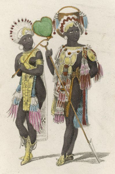 Two richly dressed Africans