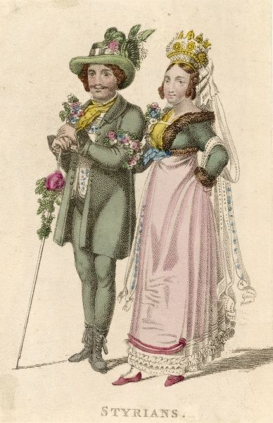 Bride and groom from Styria