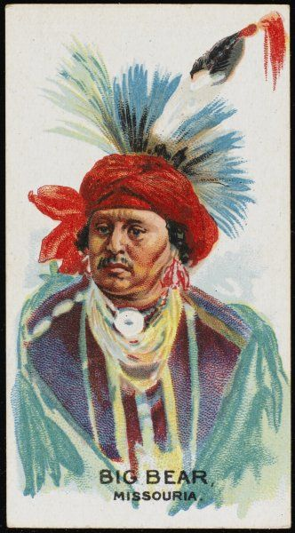 Big Bear: Chief of the Missouria tribe