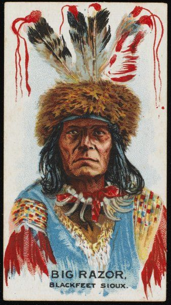 Big Razor: Chief of the Blackfoot Sioux tribe