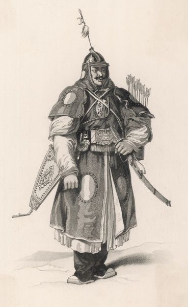 A Tartar warrior of the Chinese army