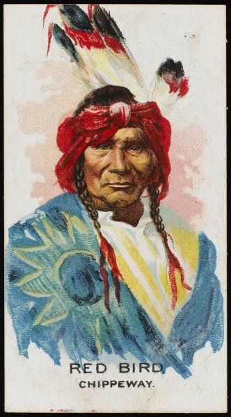 Red Bird: Chief of the Chippewa (or Chippeway) tribe