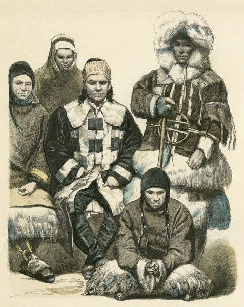 Five nomads from the Amur region Date: 19th century