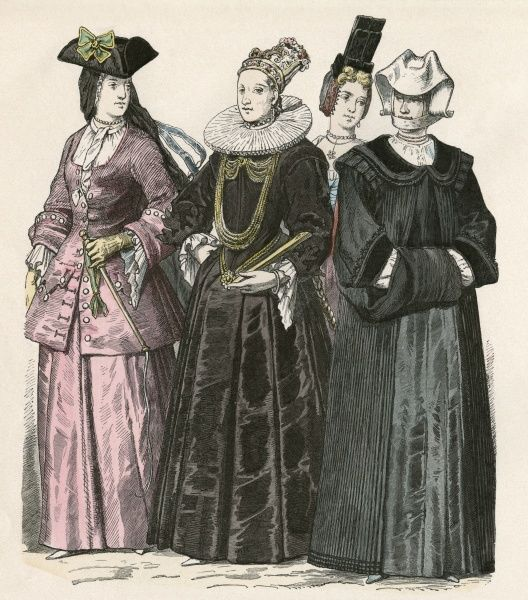 Swiss women of the middle classes Date: circa 1700