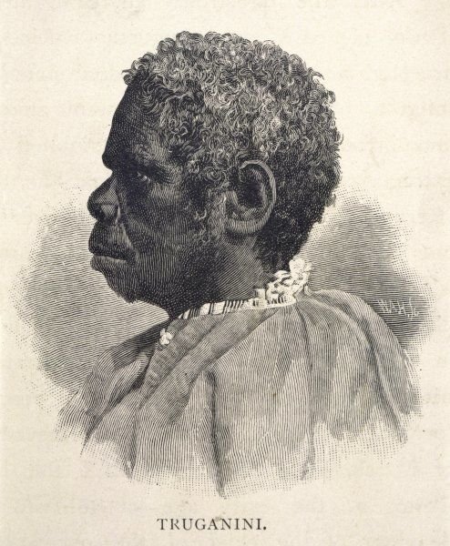 Truganini, the last female Tasmanian died 1876